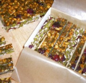 Christmas Pumpkin Seed Meal Bars
