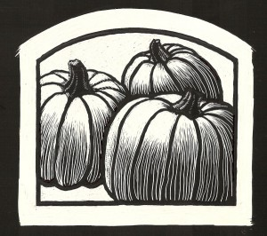Original artwork created by Randall Rogers of Prairie Farm, WI for the Hay River Pumpkin Seed Oil label.