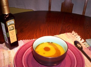 Squash Soup with Pumpkin sieed oil